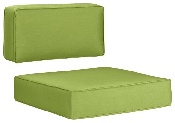 All Modern Outdoor Pillows : Sunbrella Kiwi Modular/Lounge Chair Cushions - Modern - Outdoor Cushions And Pillows - by Crate ...