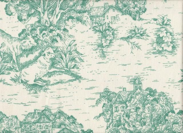 King Shams Pair Toile Pool Blue-Green traditional-pillowcases-and-shams