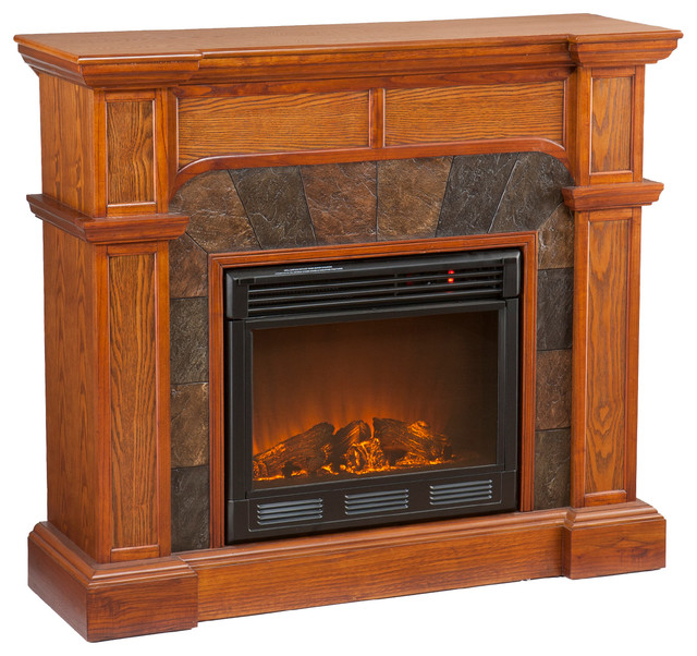 Cypress Electric Fireplace Mission Oak Traditional