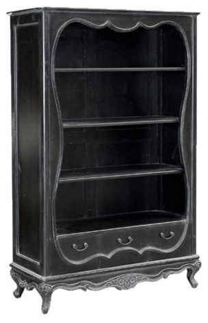 Moulin Noir Bookcase with Drawers traditional bookcases cabinets and computer armoires
