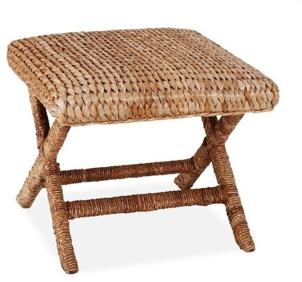 Sea Grass Stool Honey Contemporary Footstools And Ottomans By Pottery Barn