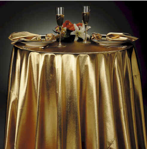 Gold Lame Tablecloth - eclectic - tablecloths - by Tablecloth Designs