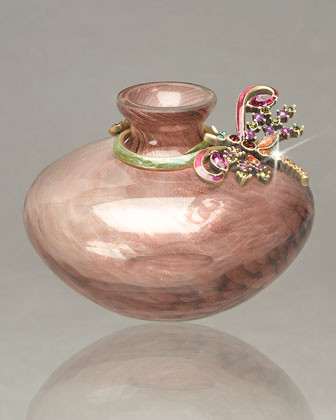Jay Strongwater Aime Dragonfly Mini Vase traditional-vases