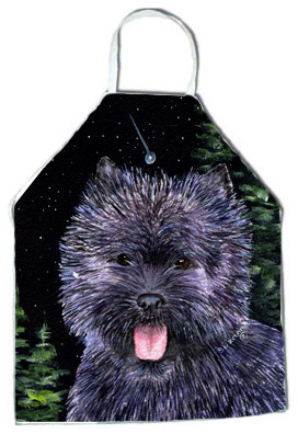 Starry Night Cairn Terrier Apron SS8494APRON traditional-aprons