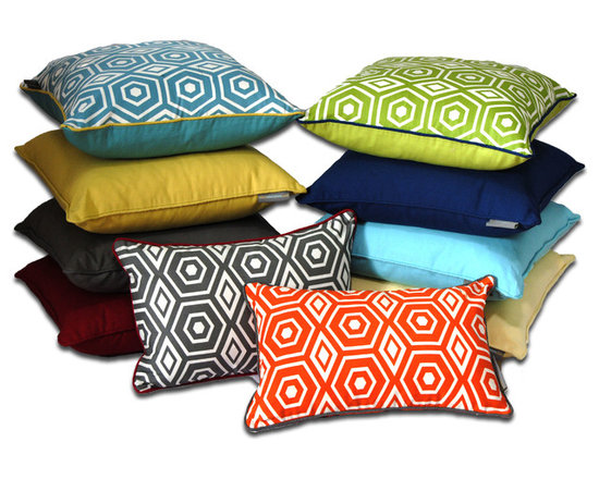 Metro Collection - Honeycomb Decorative Pillow - Metro Collection - Honeycomb Series Decorative Pillow by ez living home