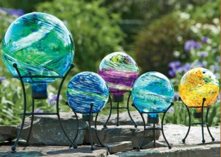 Celestial Globe Gazing Balls eclectic-outdoor-lighting