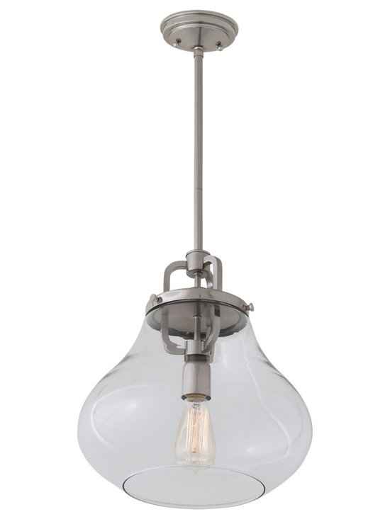 DVI Lighting - Coronado Pendant - Coronado Pendant features Opal or Clear glass with a Satin Nickel or Oil Rubbed bronze finish. Available in small, medium, and large sizes. 100 watt, 120 volt Edison A-Shape type Medium base incandescent bulbs are required, but not included. Small: 7.75 inch width x 10.25 inch height x 52.5 inch length. Medium: 12 inch width x 15.25 inch height x 57.25 inch length. Large: 14 inch width x 16.25 inch height x 58.25 inch length.