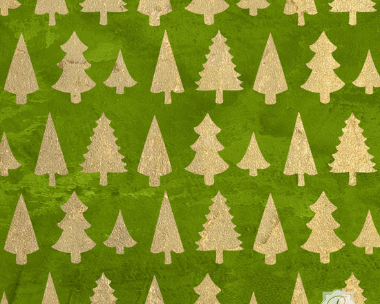 Standing Trees Christmas Stencil -