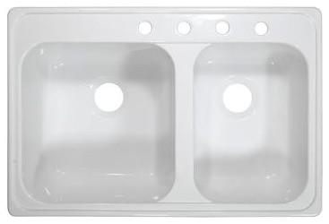 "Deluxe 33"" x 22"" Kitchen Sink modern-bath-products"