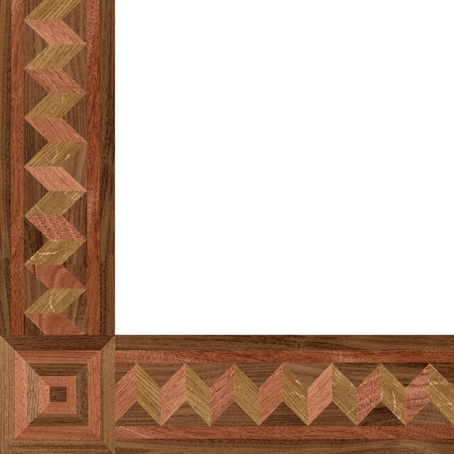 Oshkosh designs easton bay inlay border and corner Hardwood floor designs borders