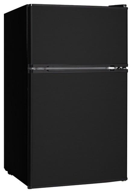 3.1 Cubic-Foot Refrigerator Black - Contemporary ...