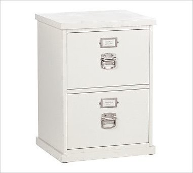 Bedford 2-Drawer File Cabinet, Antique White - Traditional - Filing Cabinets - by Pottery Barn