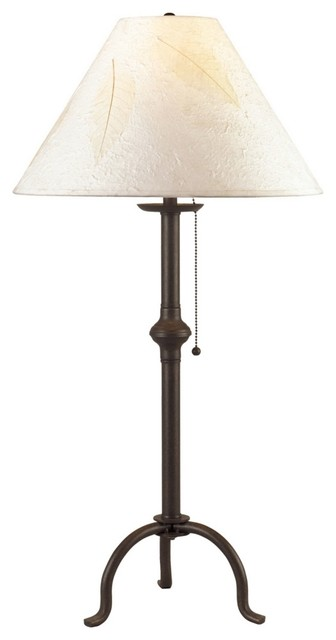 Iron Craftsman Collection Pennyfoot Wrought Iron Table Lamp traditional-table-lamps