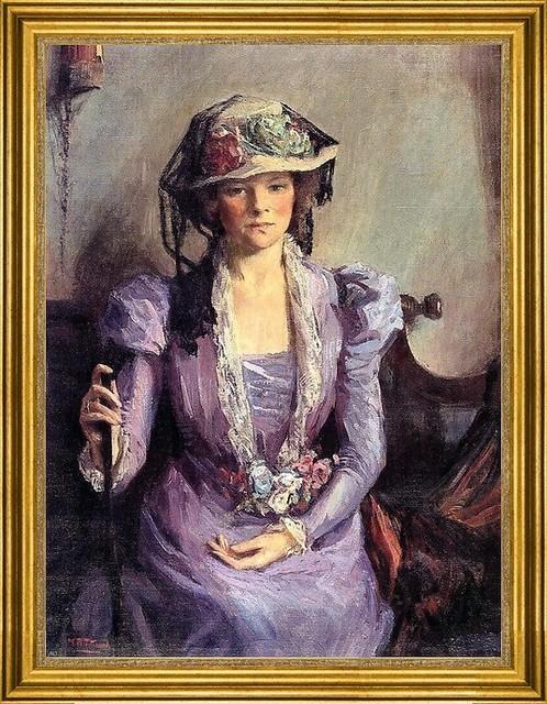 "Mary Bradish Titcomb-18""x24"" Framed Canvas traditional-artwork"