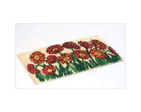 "Coir Flower Garden Doormat - Homescapes have now come out with a lovely collection of doormats. The collection is made keeping in mind a variety of tastes and preferences. There's a mat for everyone with themes like, Dog/Cat/ Horse lovers, ""Love Hearts"", ""Just Married"", union Jack, stripes, various ""welcome"" designs, Hello, goodbye and novelty mats."