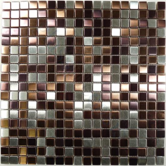 "Brushed Stainless Steel Backsplash: Mulberry 1/2"" X 1/2"" Stainless Steel Backsplash Brushed"