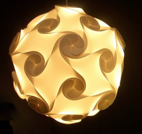 Large Orbital Lightshade in White by Electric Firefly modern-pendant-lighting