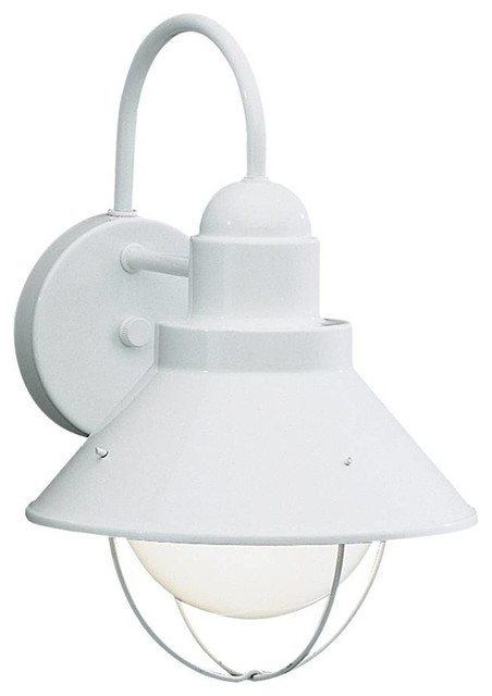 White outdoor light fixtures