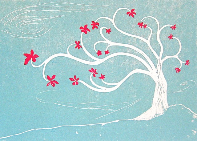 Flowering Tree, Limited Edition, Hand Printed Work contemporary-artwork
