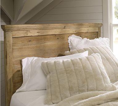 Mason wood headboard dresser set cal king wax pine Traditional wood headboard
