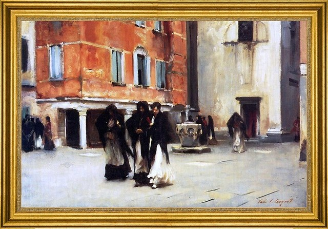 "John Singer Sargent-16""x24"" Framed Canvas traditional-artwork"