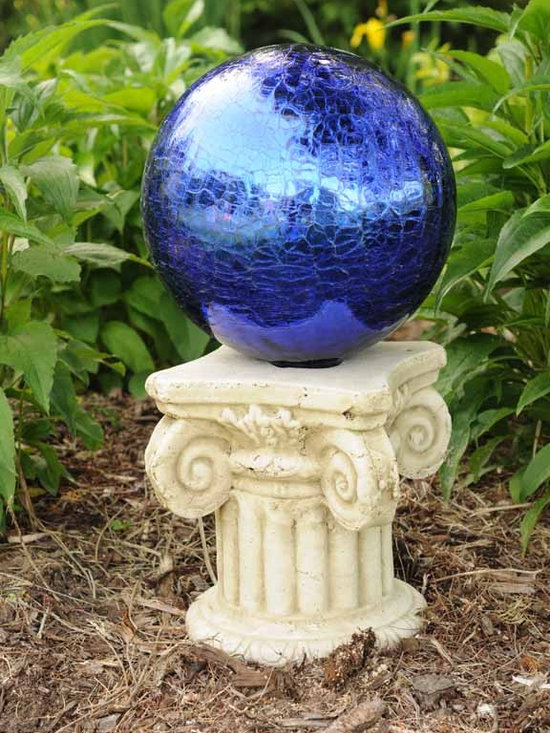 Outdoor Accents - An element of elegance is added to your garden with these beautiful gazing ball stands. Each stand is made of hand finished terra cotta. Holds any standard 10-inch gazing ball. Gazing balls sold separately.