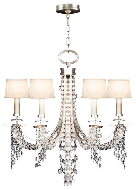 Fine Art Lamps ST Cascades Silver Leaf 6 Light