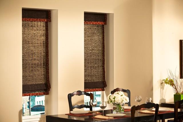 Horizons Natural Woven Shades contemporary-window-treatments