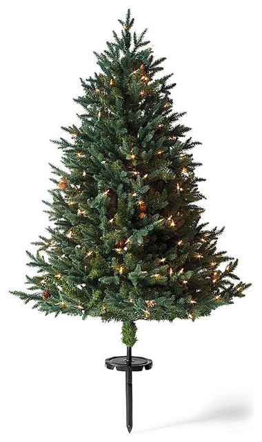 White pine cordless stake outdoor christmas tree christmas for Outdoor tree decorations