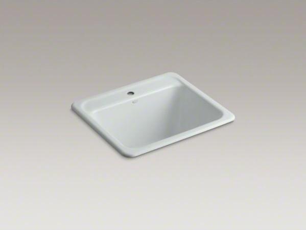 KOHLER Glen Falls(TM) top-mount utility sink with single faucet hole contemporary-kitchen-sinks