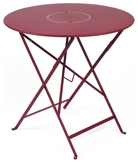 "Fermob French Bistro Floreal Folding Table - 30"" modern-indoor-pub-and-bistro-tables"