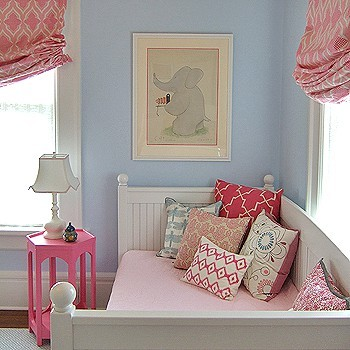 Lotus-Bleu-Interior-Design-Pink-Blue-Girls-Bedroom-Elephant-Print-Madeleine-Wein