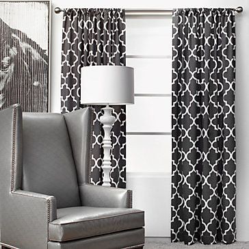 Mimosa Panels - Charcoal modern curtains