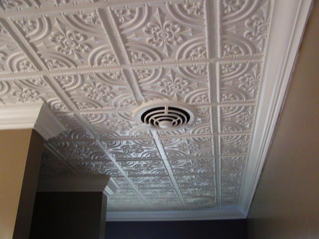 White Matte PVC amp Polystyrene Decorative Ceiling Tiles