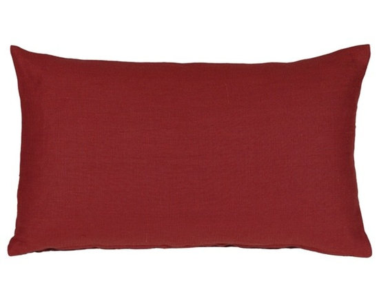 Pillow Decor - Pillow Decor - Tuscany Linen Red 12x20 Throw Pillow - The Tuscany Linen Red 12x20 Throw pillows are 100% linen with a soft natural linen touch and texture. Available in a range of colors and sizes, these linen pillows are ideal solid color accent pillows for your bed or sofa. Mix and match to complement other accent colors in your home.