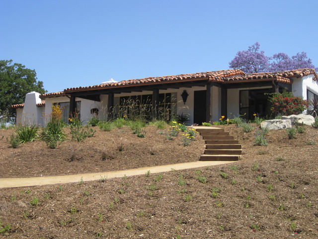 California adobe ranch renovation Mediterranean ranch