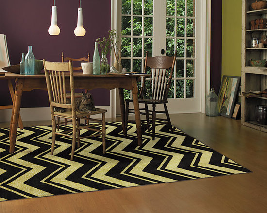 """Mohawk Home - Mohawk Home Lascala Chevron Stripe Neutral - The classic chevron design has been rejuvenated with modern colors and a durable construction. Create a pop of color or a dynamic focal point with this contemporary design. For decades, Mohawk has been dedicated to making superior quality area and accent rugs that are manufactured right here in the United States. Packed with performance these rugs offer durability paired with beauty and affordability. You can instantly transform any room in your home with one of our luxurious, chic and durable tufted rugs. AVAILABLE SIZES: 60""""x96"""",96""""x120"""""""