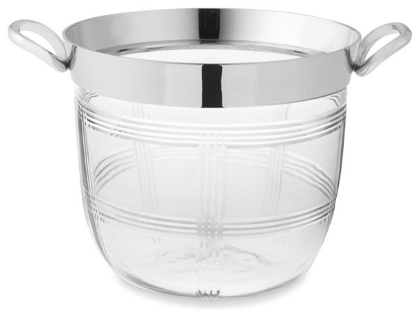 Plaid Bleeker Ice Bucket traditional-wine-and-bar-tools
