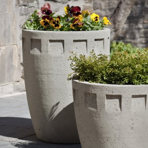 Campania International Austin Tall Cast Stone Planter