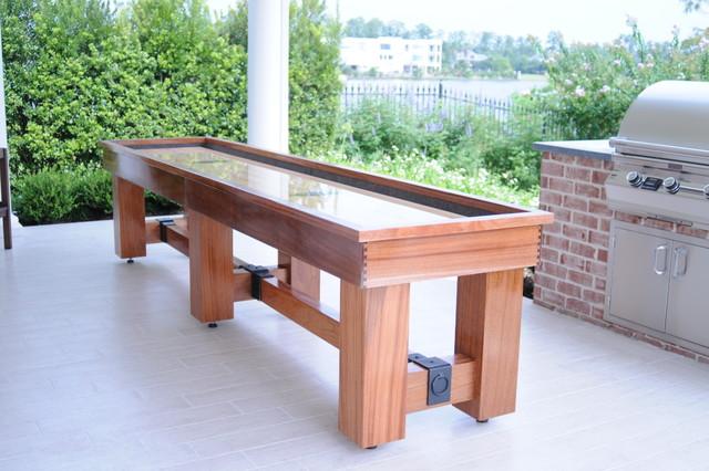 Aspen Outdoor Shuffleboard Table Traditional Game