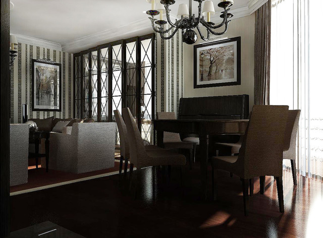 American Beauty transitional-dining-room