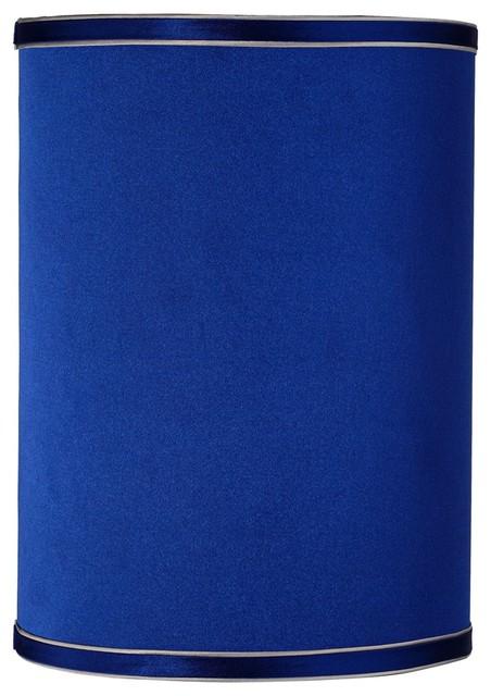 sydnee satin dark blue cylinder lamp shade 8x8x11 spider. Black Bedroom Furniture Sets. Home Design Ideas