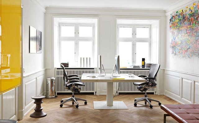 Workspace in the Merchant House modern-home-office