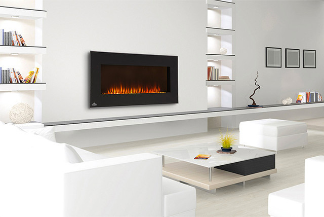 Napoleon 42-Inch Linear Black Wall Mount Electric Fireplace - EFL42 modern-fireplaces