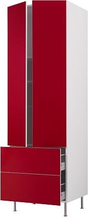 AKURUM High cabinet w shelves/2 drawers modern-kitchen-cabinetry