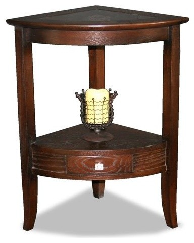 Leick 10039 favorite finds corner stand traditional for Corner side table