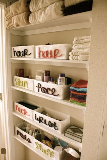 Bathroom storage idea eclectic bathroom