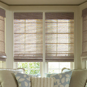 Levolor Roman Shades Tweed Rattan Amp Lemongrass Weaves