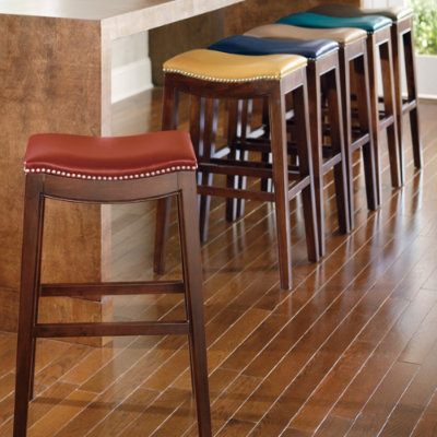 Julien Leather Bar Stool Modern Bar Stools And Counter
