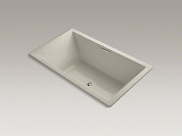 "KOHLER Underscore(R) 72"" x 42"" drop-in bath with Bask(TM) heated surface and cen contemporary-bathtubs"